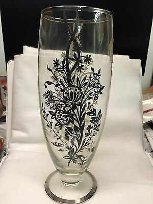 Glass Sterling Silver 10 Inch Vase Bedford Silver Inc Ny
