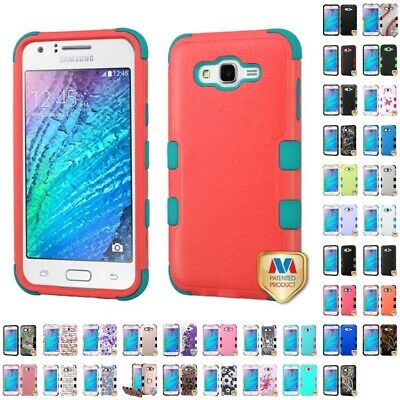 Samsung Galaxy J7 2015 Hybrid TUFF IMPACT Phone Case Hard Rugged Cover