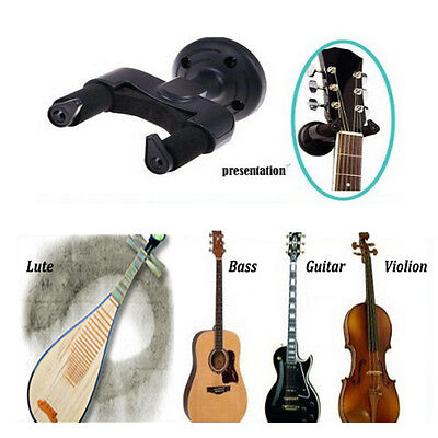 Electric Guitar Wall Hanger Holder Stand Rack Hook Mount Guitar With Set Screw