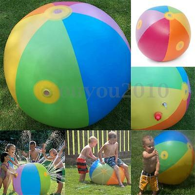 Inflatable Water Ball Sprinkler Toy Kids Children Outdoor Beach Swimming Party