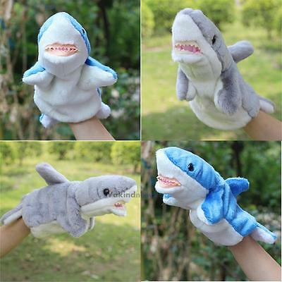 Shark Cartoon Hand Glove Puppet Plush Puppets Kids Toy Role Pretend Play Toys