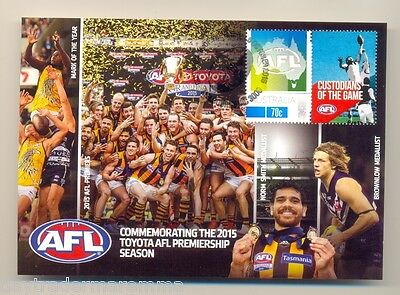 2015 AFL Premiers Hawthorn 70 Cent stamped cover air mail paid postcard