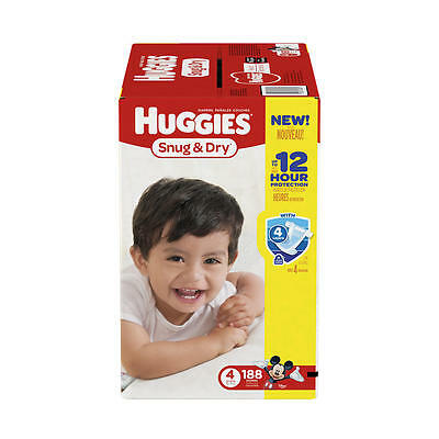 Huggies Snug and Dry Size 4 Baby Disposable Diapers - 188 Count