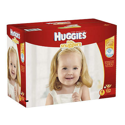 Huggies Little Snugglers Size 4 Baby Disposable Diapers - 132 Count