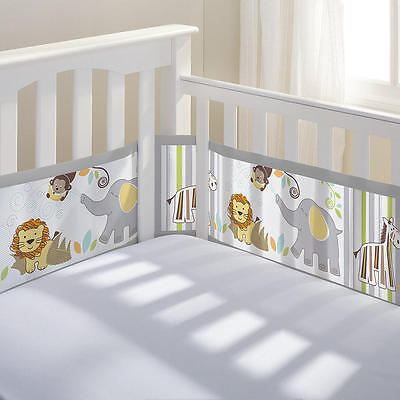 BreathableBaby Classic Breathable Safari Fun Too Mesh Crib Liner