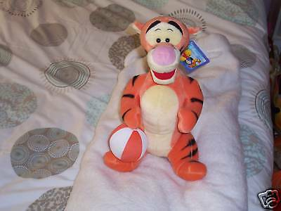 Tigger with Ball   12 Inches Sitting   BRAND NEW