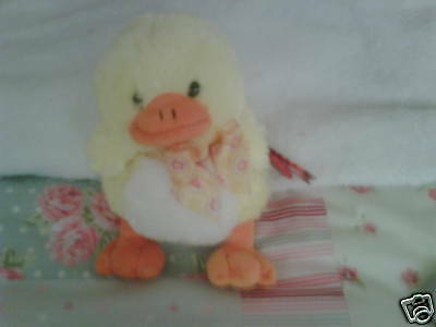 Soft & Cuddly Beanie Duck  8 Inches Brand NEW With Tags