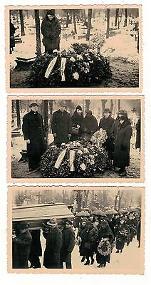 Latvia. Riga . Four Old Real Photos Of A Funeral. Someone Famous?