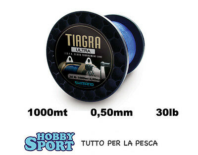 Filo Nylon Traina 1000 Mt Big Game 30 Lb Tiagra Ultra Shimano