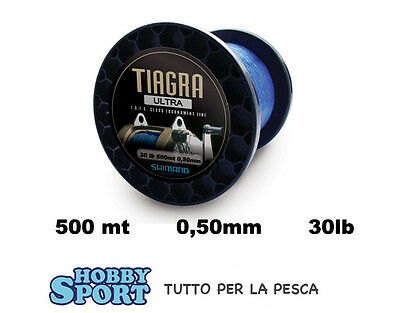Filo Nylon Traina 500 Mt Big Game 30 Lb Tiagra Ultra Shimano