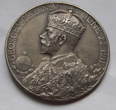 George V Queen Mary Official Coronation Medal 1911  30mm