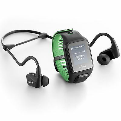 TomTom Runner 3 Cardio Music Large Fitness Heart Rate Monitor with Headphones