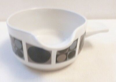 Midwinter Pottery Focus pattern sauce / gravy boat Barbara Brown design