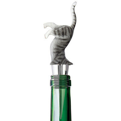 NEW Upside Down Kitty Cat Wine Bottle Stopper Decorative Novelty Barware Tool