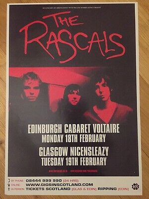 The Rascals - Gig poster , Edinburgh & Glasgow - Feb 2008 Last Shadow Puppets