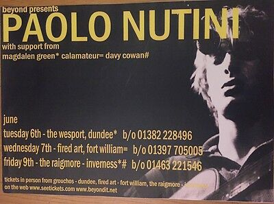 Paolo Nutini - Rare gig poster, June 2006 (Dundee, Fort William, Inverness)