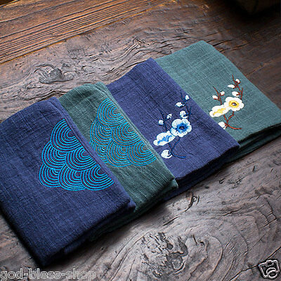tea towel cotton yarn absorbent towel tea accessories embroidered double layers