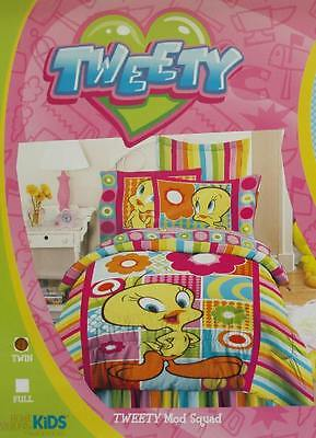 Looney Tunes Rainbow Colored Twin Bed Skirt Bedding New.