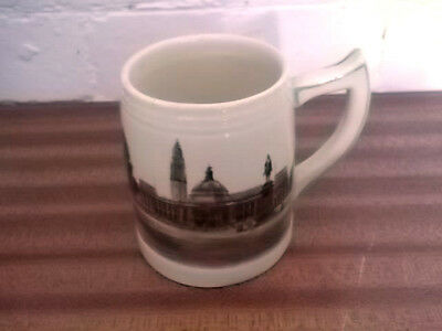 Brentleigh Mug / Tankard Crested Cardiff With  A Picture Of Cardiff City Hall