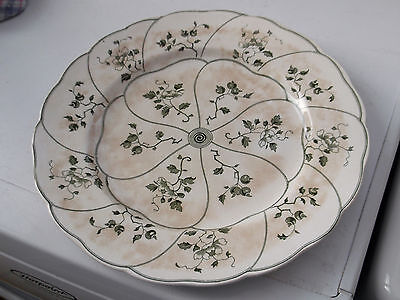 Vintage Dinner Plate By Minton  In Kent Pattern   A Green Leaf And Berry Pattern