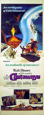 IN SEARCH OF THE CASTAWAYS 1962 Maurice Chevalier, Hayley Mills INSERT POSTER