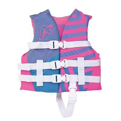 Airhead Trend Girls Closed Side Life Vest Pink/Blue Child
