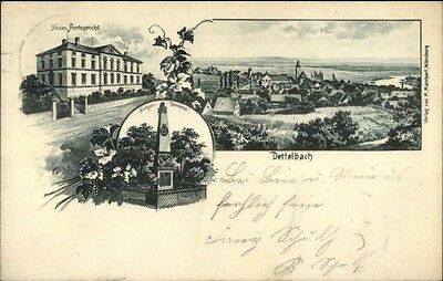Dettelbach Germany Multi-View c1900 Postcard