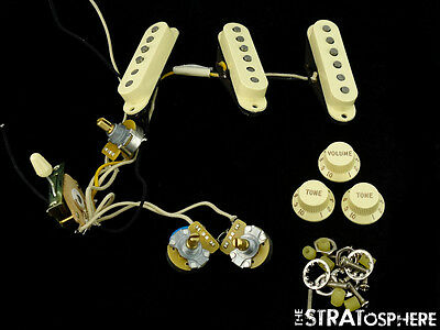 American Fender Eric Johnson Strat PICKUPS POTS KNOBS + SWITCH Stratocaster