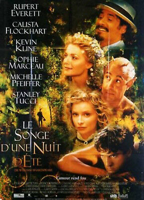 MIDSUMMER NIGHT'S DREAM 1999 Michelle Pfeiffer, Kevin Kline FRENCH POSTER