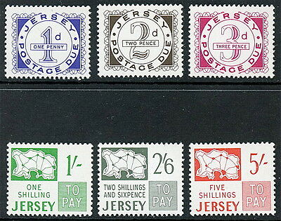 Great Britain Jersey Postage Dues - J1 to J6 F-VF MNH   S897