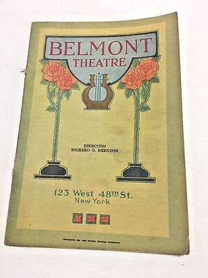 Belmont Theater Program November 2nd 1925 New York YOUNG WOODLEY