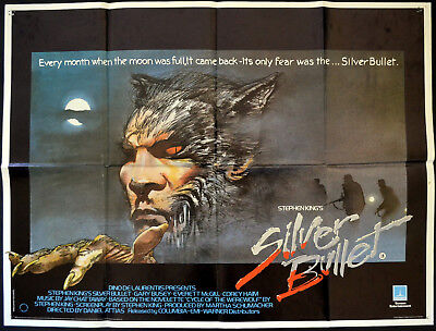 SILVER BULLET 1985 Gary Busey, Everett McGill - STEPHEN KING UK QUAD POSTER