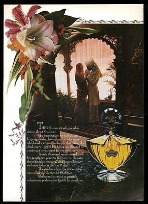 1979 Shalimar perfume bottle and flower photo vintage print ad