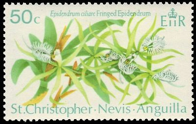 """ST. KITTS-NEVIS 241 (SG240) - Fringed Epidendrum """"Epidendrum ciliare"""" (pa61133)"""