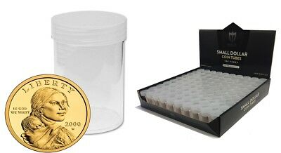 20 Max Pro Premium Small Dollar Round Clear Plastic Coin Holder Storage Tubes
