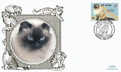 (81157) Gambia Benham FDC Cats - 12 January 2001
