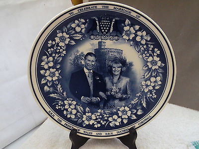 2Oo5 Wedgwood / Daily Mail Plate For The Wedding Of Prince Charles And Camilla