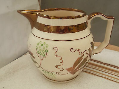 Grays Pottery Jug, Custard  / Gravy  Jug  With A Stylistic Floral Pattern A / F
