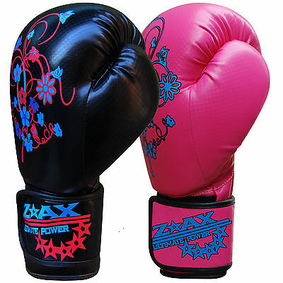 Junior Boxing Gloves Sparring Punch Bag Training Mitts Girls Ladies 4,6,8,10 OZ