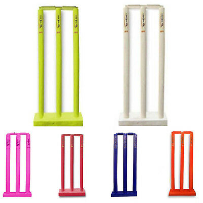Kids Cricket Stumps & Bails Cricket Wicket & Stumps With Floor Base Age 3 to 11