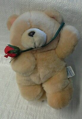 forever friends plush bear with rose