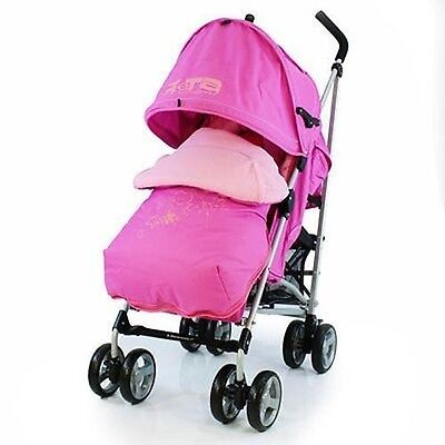 Baby Stroller Pushchair Buggy + Footmuff Raincover