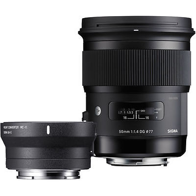 Sigma 50mm f/1.4 DG HSM Art Lens for Canon EF and MC-11