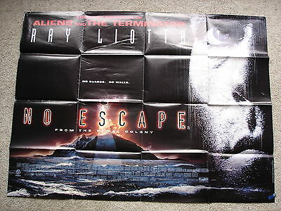 NO ESCAPE - Original film poster - Ray Liotta -  1990's UK quad