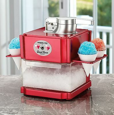 New Waring Pro Sno Cone Maker Machine Shaved Ice Machine with Reusable Cones