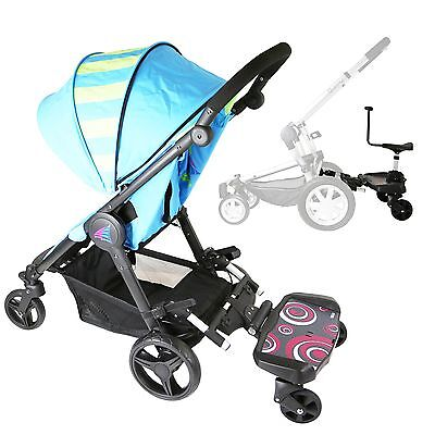 iSafe SegBoard Buggy Board Sit Or Step Pram Board - Swirl Complete With Saddle S
