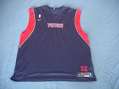 Richard Hamilton 2002 Detroit Pistons game used shooting shirt