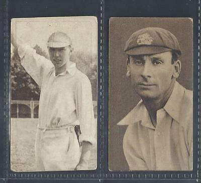 Hill - Famous Cricketers - 2 Cards