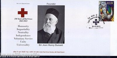 150 Yrs of Red Cross, Henry Dunant, India Special Cover - M1