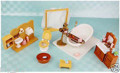 Deluxe TV/ Beach/ Bath Room Play Set Furnitures For Sylvanian Families Dolls HOT